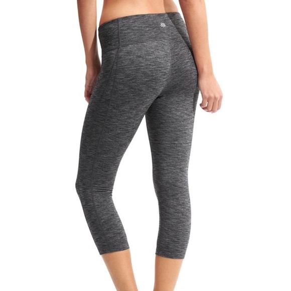 9f77c0e9702cf Athleta Pants | All In Crop Leggings In Grey | Poshmark